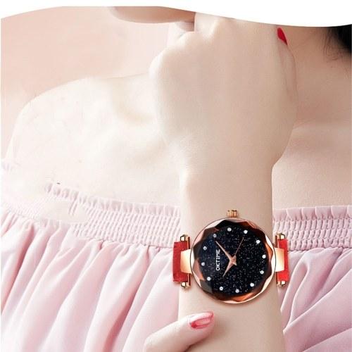 Luxury Exquisite Fashion Star Quartz Watch Women Casual Bright Starry Sky Wristwatches