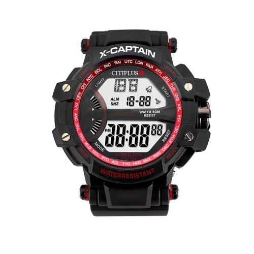 CITIPLUS T-9 Analog Digital Männer Frauen Uhr Woche Kalender Mode Lässig Sport Armbanduhr 3ATM Wasserdichte Hintergrundbeleuchtung Snooze Funktion Männlich Weiblich Uhren