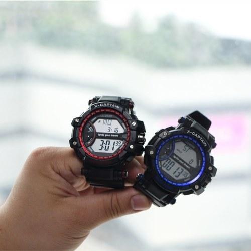 CITIPLUS T-9 Analog Digital Men Women Watch Week Calendar Fashion Casual Sports Wristwatch 3ATM Waterproof Backlight Snooze Function Male Female Watches