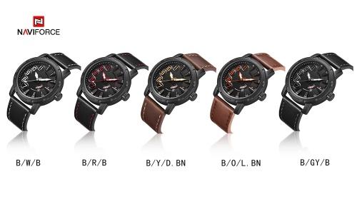NAVIFORCE NF9154 Men Student Quartz Watch Luminous Fashion Casual Outdoor Sports Male Wristwatch Waterproof Watch Relogio Masculino with Gift Box