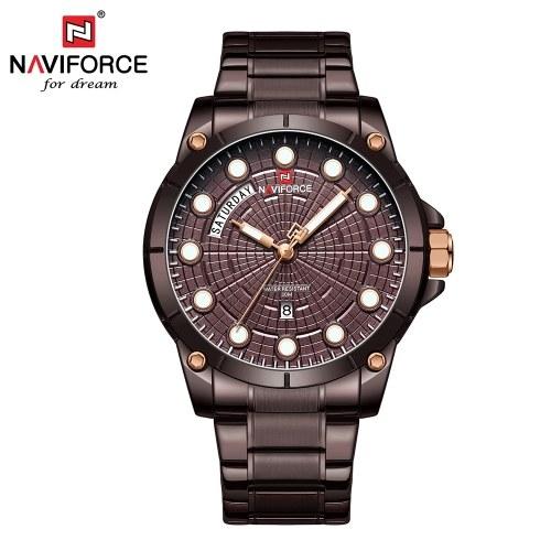 NAVIFORCE NF9152 Hombres Marca Reloj de Cuarzo Luminoso Moda Casual Deportes Al Aire Libre Masculino Impermeable Reloj Relogio masculino con Caja de Regalo