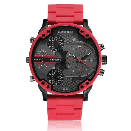 Cagarny 6830 orologio al quarzo uomo unico sport di moda casual orologio di marca giapponese movimento originale cinturino in acciaio inox impermeabile orologio da polso relogio masculino