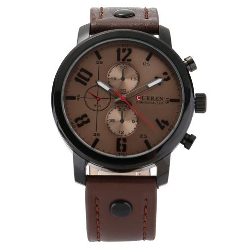CURREN 8192 orologio al quarzo uomo unico moda sport casual orologio di marca affari cinturino in pelle movimento originale impermeabile orologio da polso relogio masculino