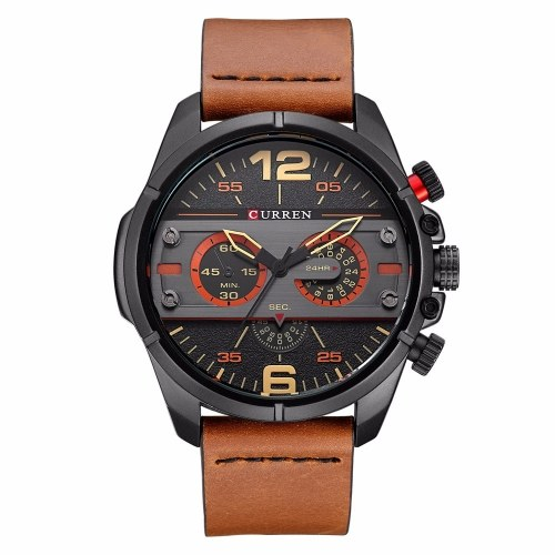 CURREN 8259 Quartz Man Watch Unique Fashion Sport Casual Brand Clock Army Military Business Original Movement Leather Waterproof Wrist Watch Relogio Masculino фото