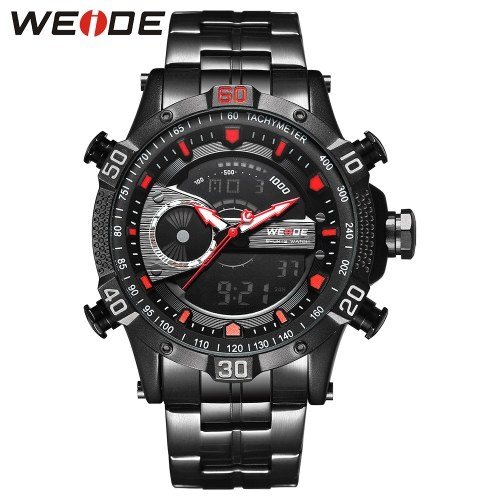 WEIDE WH6902 Dual Display Two Movement Quartz Digital Men Watch фото