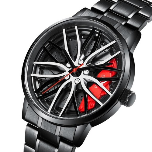 ONOLA Quartz Watch Stainless Steel Strap Fashion Multifunction Wristwatch 3ATM Hollow Out Watches for Men Boys