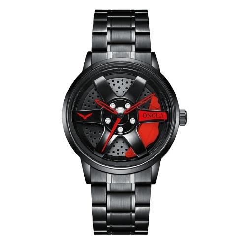 Orologio al quarzo ONOLA con cinturino in acciaio inossidabile Orologio da polso multifunzione moda 3ATM Orologi per uomo e ragazzo