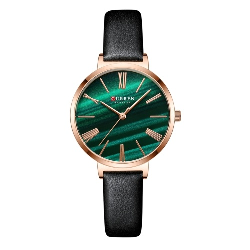 Women Quartz Watch CURREN Female Fashion Analog Wrist Watch 3ATM Waterproof Classic Ladies Watch with Leather Watch Strap