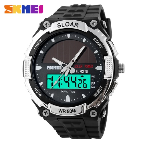 SKMEI Moda Energía Solar Deportiva Reloj Militar