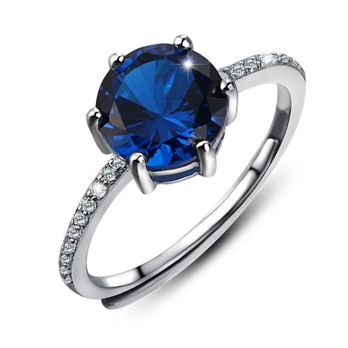 Romacci Trendy Fashion 925 Sterling Silver Shining Round CZ Diamond
