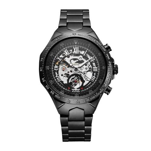 WINNER Hochwertige Männer Halbautomatische mechanische Uhr