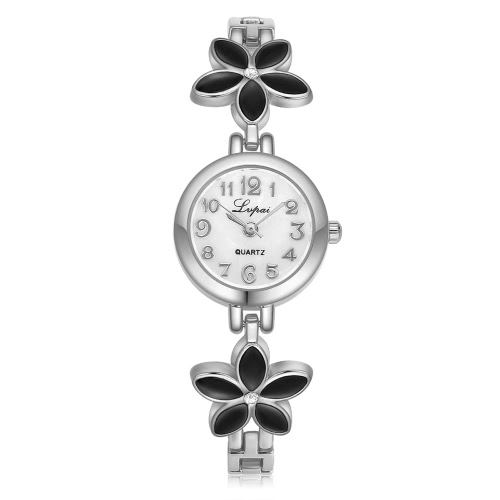 Lvpai Marke Frauen Frau Gänseblümchen Blume Strass-Armband-Uhr-Quarz-Armbanduhr Analog-Mädchen-Dame-Frauen-Kleid Art und Weise klassische Geschenk
