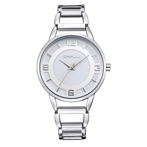 CRRJU Chic 3ATM Tägliches Wasser-beständiges Art und Weise Frauen-analoge Uhr-elegante einfache Lady Armbanduhr für Ehepartner Freunde
