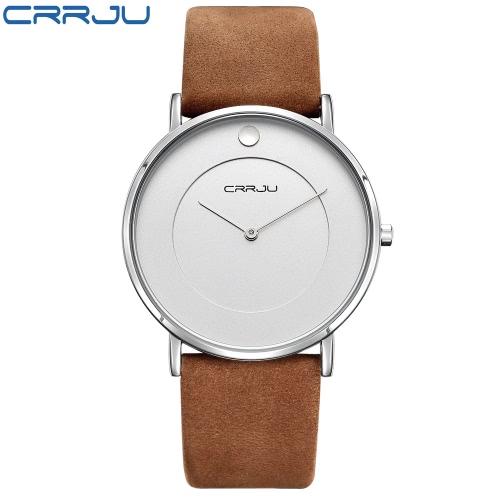CRRJU Style Chic 3ATM Eau Daily luxe Résistant Hommes Montre analogique simple bracelet d'affaires