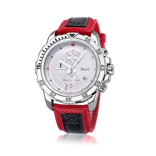 Bolisi Fashion Casual Quartz Watch 3ATM Water-resistant Men Watches Male Wristwatch Calendar Timer