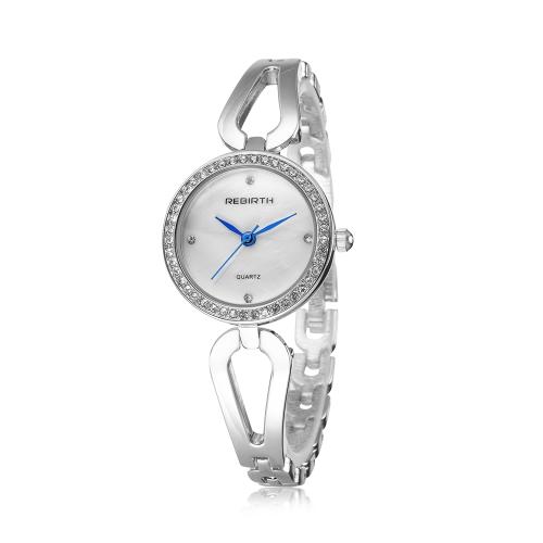 REBIRTH Мода Случайные кварцевые часы Жизнь Водонепроницаемые Часы Женщины Наручные часы Женский фото