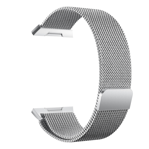 Fashion luxury Mesh Stainless Steel Watch Band for Fitbit ionic 22mm Watch Strap Bracelet Magnetic Clasp Replacement Band