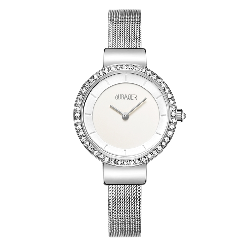 OUBAOER Mode Luxus Edelstahl Frauen Uhren