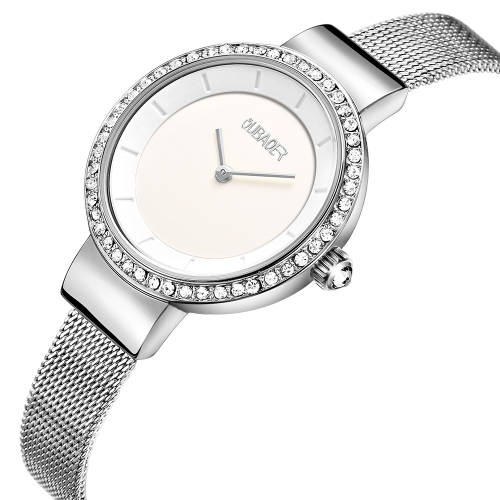 OUBAOER Fashion Luxury Stainless Steel Watches Donna Quarzo 3ATM Impermeabile Casual da donna Orologio da polso
