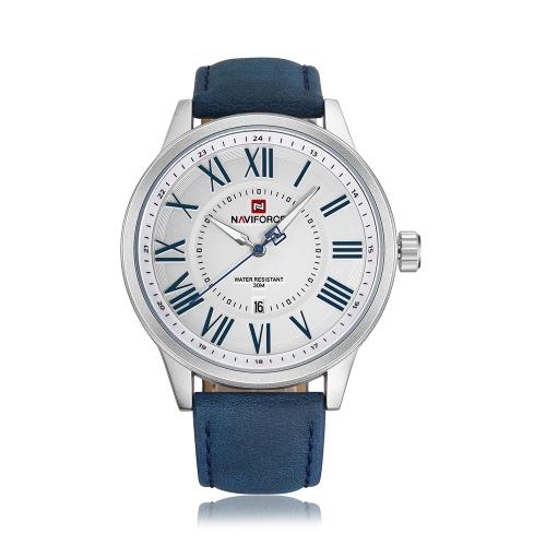 NAVIFORCE Mode Männer Uhren 3ATM wasserdicht Quarz Leuchtender Beiläufiger Mann Armbanduhr Männlich Relogio Musculino