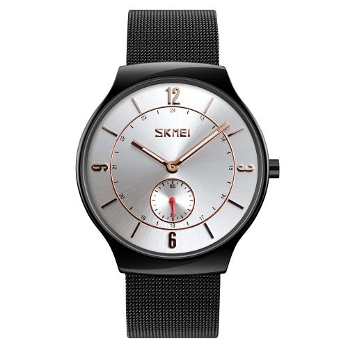 SKMEI Fashion Casual Quartz Watch 3ATM Uomo resistente all'acqua Orologio in lega di zinco Orologio da polso maschile
