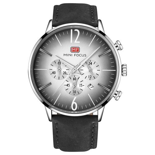 MINI FOCUS MF0114G-01 Relojes de moda de cuero genuino