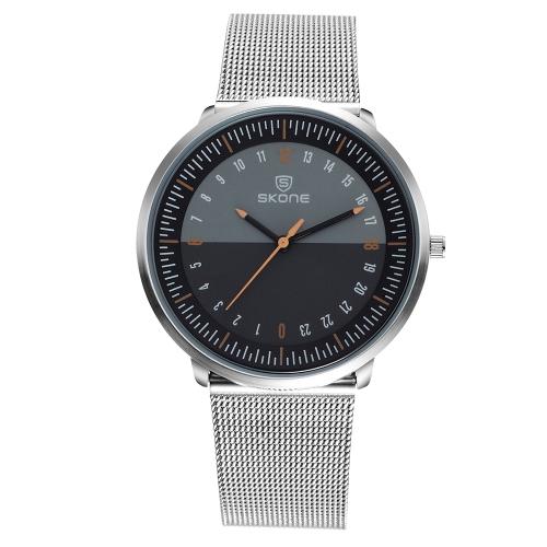 Reloj SKONE Fashion Quartz Men 3ATM Reloj de pulsera casual de acero resistente al agua Male Relogio Musculino