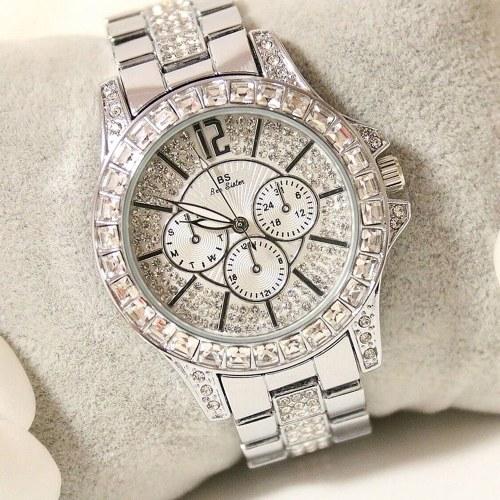 スタイリッシュな女性クォーツ腕時計ラインストーンダイヤモンドカジュアル腕時計レディースレディース腕時計エレガンス腕時計