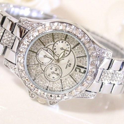 Elegante orologio da donna al quarzo con strass Diamond, orologio da polso casual per signora donna, orologi Elegance da polso