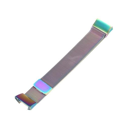 Мужчины Женщины Нержавеющая сталь дышащий ремешок для часов Металлические спортивные сменные аксессуары браслет для Fitbit Charge 3 и Charge 3 SE
