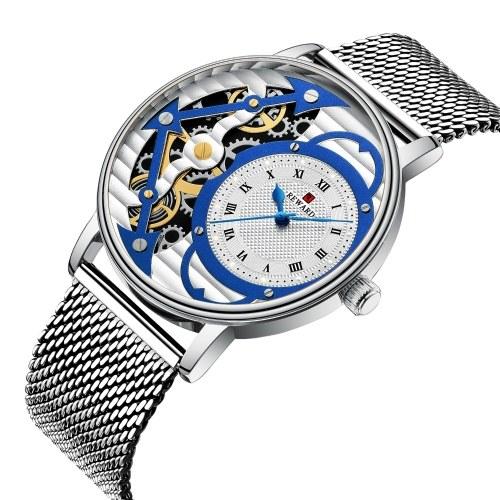 Модные Скелетон Механические Часы