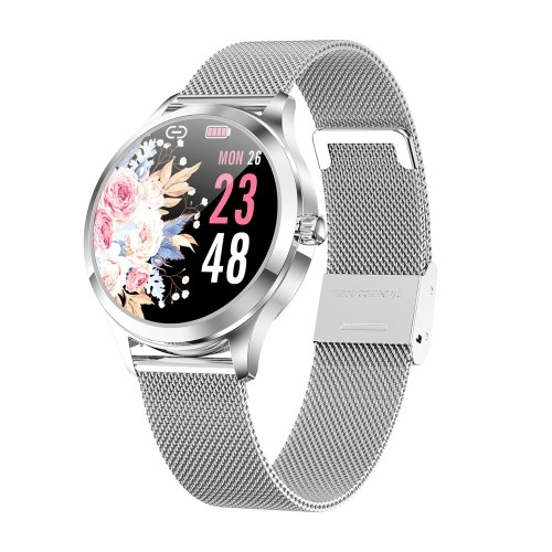 LW07 Female Smart Watch Sports Watch 1.09-Inch TFT Screen BT5.0 Fitness Tracker IP67 Waterproof Sleep/Heart Rate/Blood Pressure Monitor Multiple Sports Mode Notification/Call Reminder Compatible with Android iOS