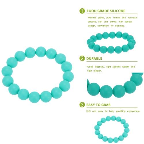 Granos 100% alimentos grado silicona dentición mordedor lazo pulsera brazalete suave de juguete del Chew bebé enfermería joyería libre de BPA