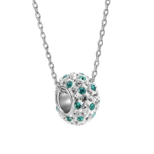 Fashion Unique 925 Sterling Silver Pendant Rhinestone Women's Necklace