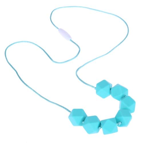 100% de los granos suaves collar Teether de la categoría alimenticia de la dentición de Chew del niño del juguete de la joyería de enfermería para que mamá desgaste libre de BPA