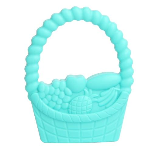 100% Silicona de Calidad Alimenticia de mano masticable Cesta Mordedor dentición colgante de collar Chew niño del bebé calmante joyería de enfermería juguete DIY libre de BPA