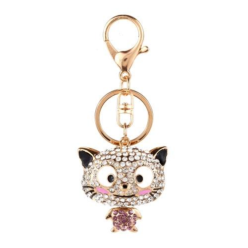 Joyería de moda del encanto hueco de la cadena del anillo dominante brillante Rhinestone Aureate colgante animal del bolso del bolso de regalo de las mujeres