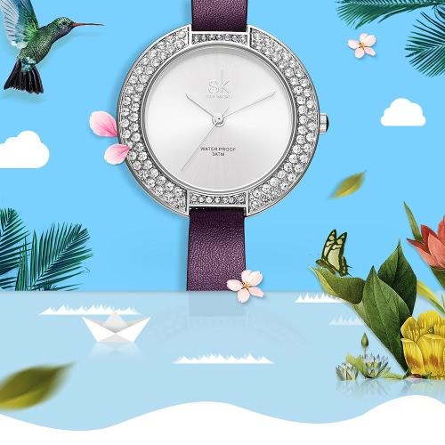 SK Diamond Quartz Women Watches