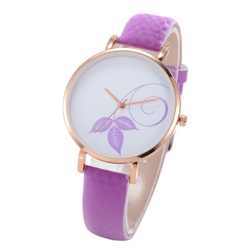 Fashion Simple Watch Color Change Sunlight Beautiful Flower Pattern Quartz Wrist Watch Feminino Acessório