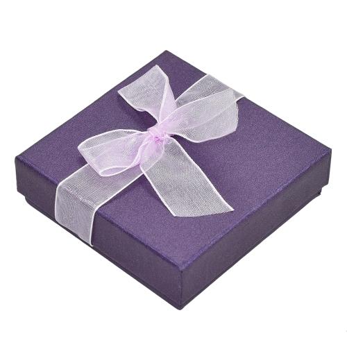 Moda avanzada Pearl-lustre Bowknot brazalete reloj pulsera caja de regalo de la joyería