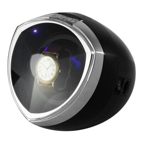 HC0110 Caja de enrollador de reloj único para reloj automático 4 modos Devanadera giratoria automática Iluminación LED Mecánico de enrolladores