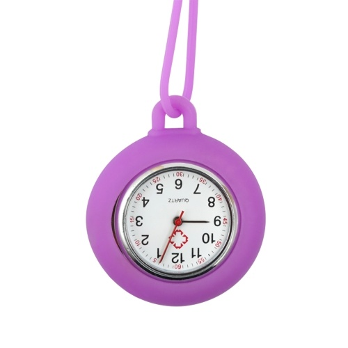 Nurse Watch Fob Watch with Silicone Cover and Lanyard Nurses Portable Pocket Watch with Second Hand Nursing Hanging Watches