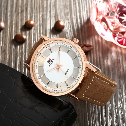 SOXY Business Casual Wrap Wrist Quartz Electronic Watch