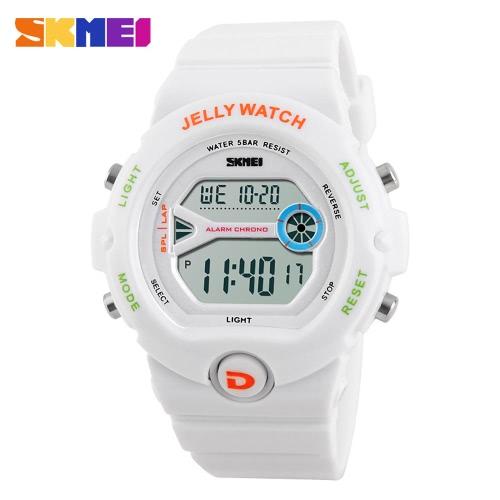 2016 SKMEI marca moda infantil deporte electrónico ver para estudiantes 50M resistente al agua movimiento Digital reloj de pulsera niños niñas relojes de los deportes de escalada