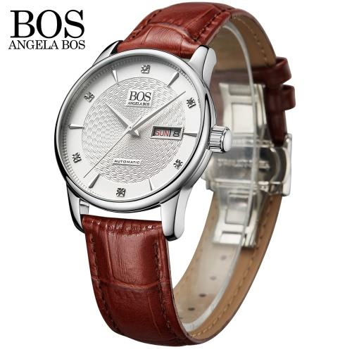 Angela Bos Simple Man Automatic Relógio de pulso mecânico