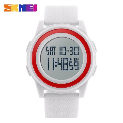 Casual reloj de pulsera deportivo reloj ligero con clase SKMEI 5ATM resistente al agua de la manera digital con el calendario