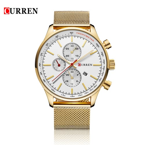 CURREN Brand Luxury Quartz...