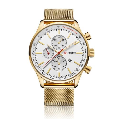 CURREN Brand Luxury Mens Quartz Casual Watch