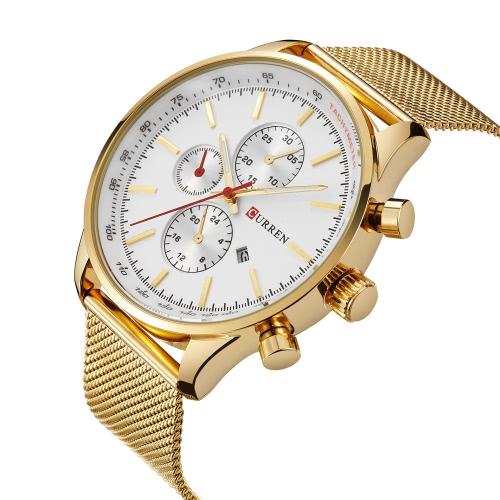 CURREN Marke LuxuxMens Quarz-beiläufige Uhr