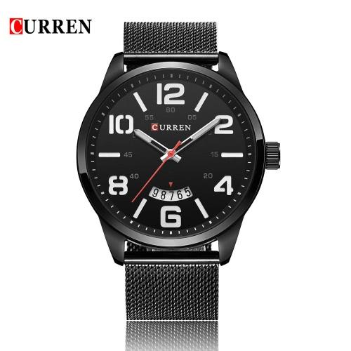 CURREN New Fashion Quartz Men Casual Watch 30M Daily Water-resistant Business Man Wristwatch W/ Calendar